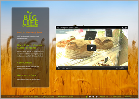 A page from the Big Life Organics web site