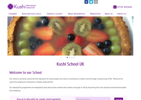 A page from the Kushi School UK web site